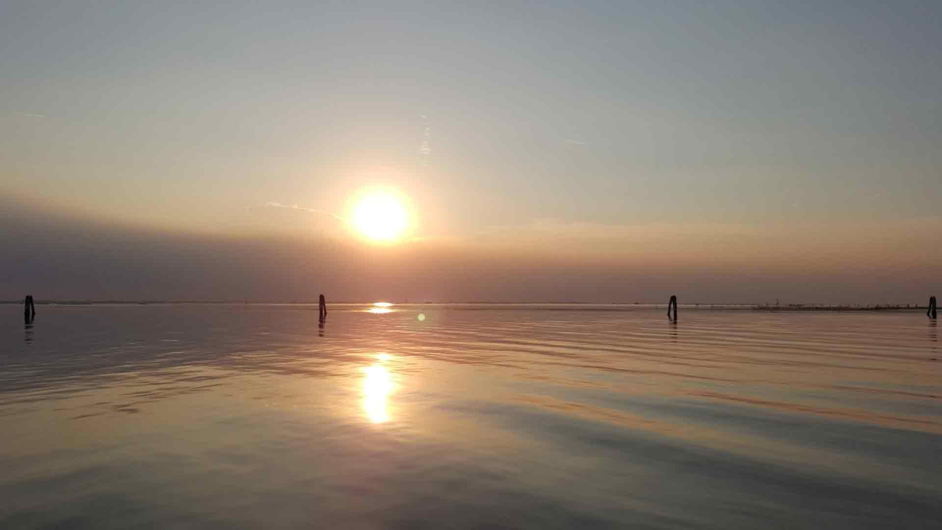 Pellestrina - Laguna al tramonto